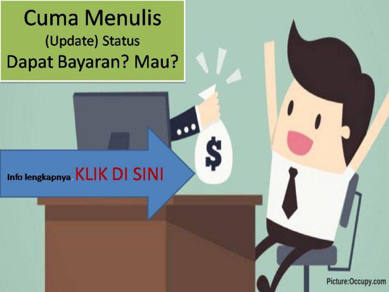 Menulis Dibayar Uang?