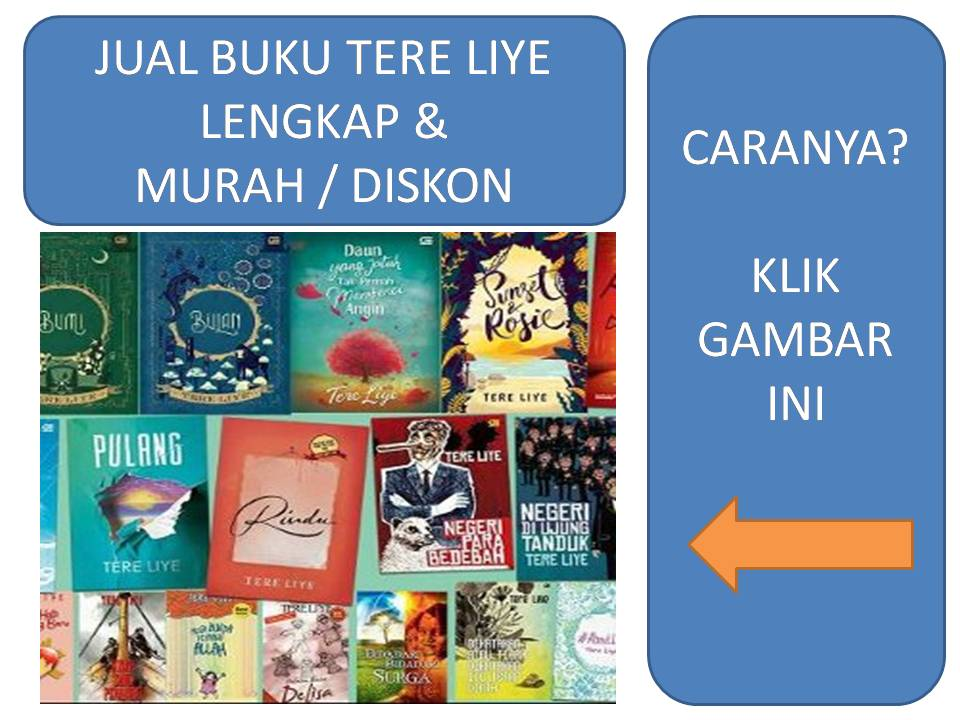 Jual Novel Tere Liye Diskon